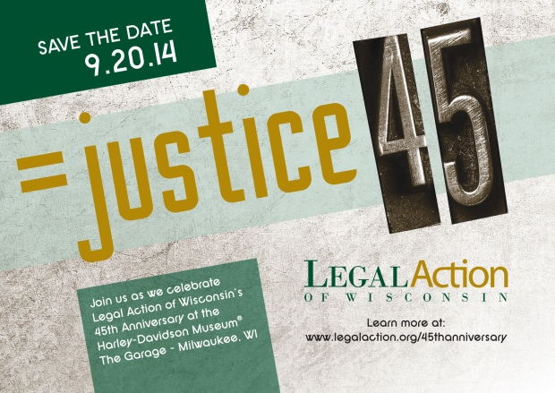 =justice 45 - Legal Action of Wisconsin's 45th Anniversary Celebration